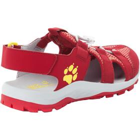 Jack Wolfskin Outdoor Action Sandals Kids red/lemon